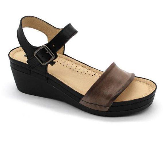 Leon Comfort női szandál 1070 Szürke Bőrcipő webáruház