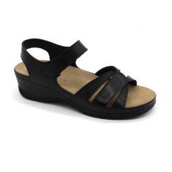 Leon Comfort női szandál 1025 Black White Női cipő