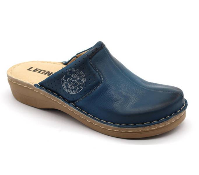 Walkin the city női papucs 1124 1694 Blue Bőrpapucs webáruház